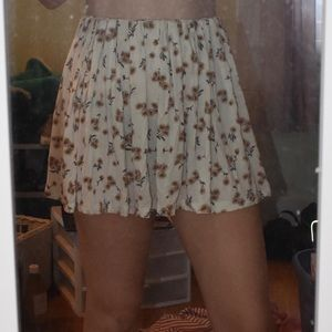 Brandy Melville flowy sunflower skirt